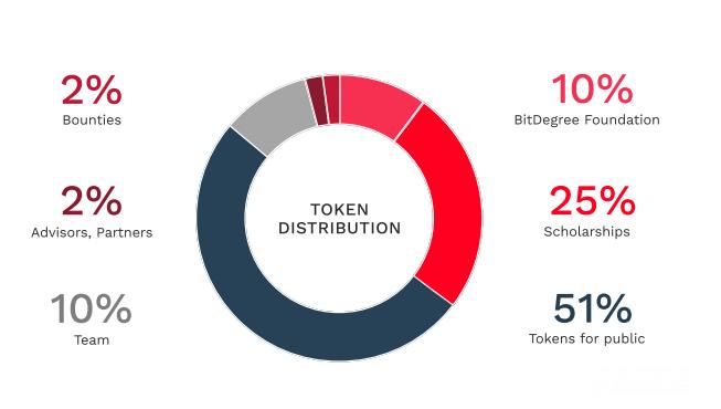bitdegree token distribution