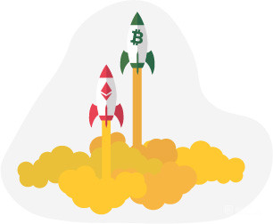 Launching race between Bitcoin and Ethereum